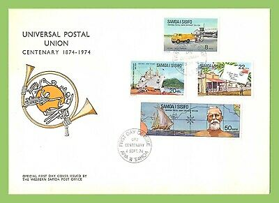 Samoa 1974 UPU Centenary set on Official WSPO First Day Cover