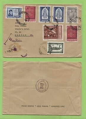 Argentina 1961 Multi franked including Scouts (faults) Cover