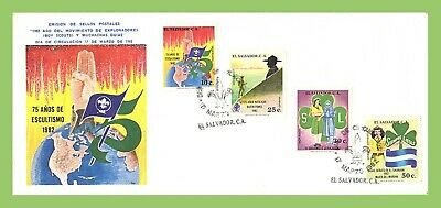 El Salvador 1982 75 Years of Scouting set on First Day Cover Tiered Stamps
