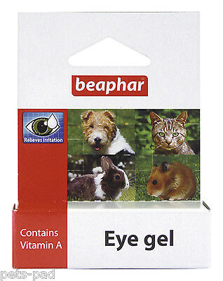 Beaphar Eye Gel, Cats, Dogs, Rabbits - Soothes and Relieves irritation,Vitamin A