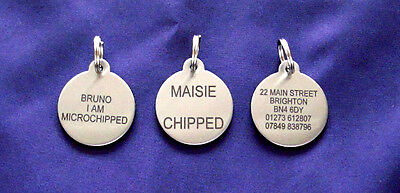 Dog ID NAME DISC Tag S/Steel Pet Tags BLACK LASER ENGRAVED Cats & Puppy B