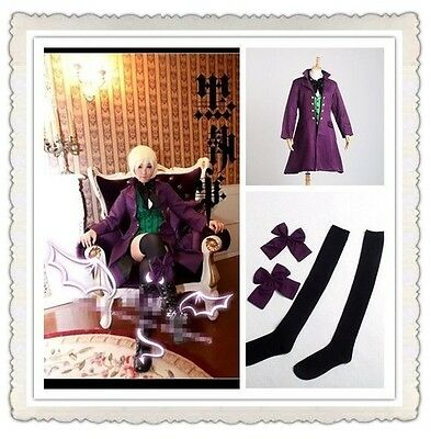 Alois Trancy Purple Button Full Set Uniform Anime Black Butler Cosplay Costume