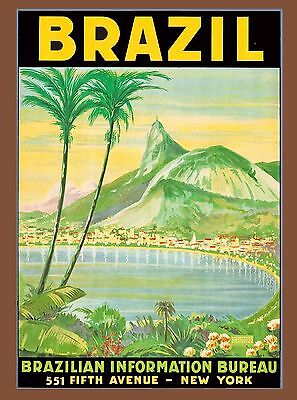 Rio de Janeiro Brazil Sugarloaf South America Travel Advertisement Poster 2