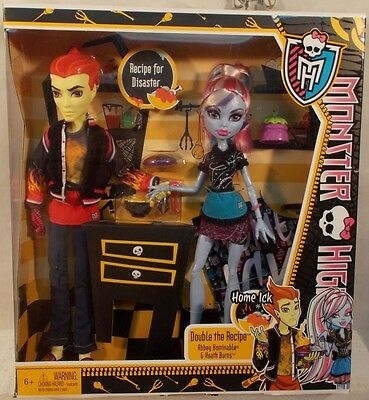 Monster High - Home Ick Double The Recipe Abbey Bominable Heath Burns 2-Pack MIB