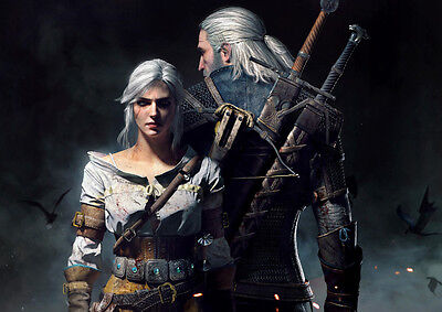 The Witcher Art Large Poster Print - A0 A1 A2 A3 A4 Sizes