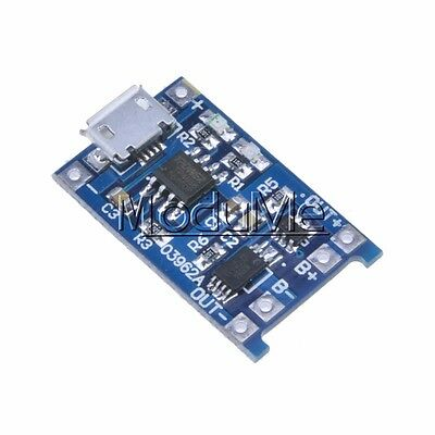 2PCS 5V Micro USB 1A 18650 Lithium Battery Charging Board Charger Module M