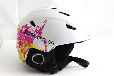 Black Canyon Skihelm Kitzbühel white graphic, Gr. L (59-60 cm) *NEU*
