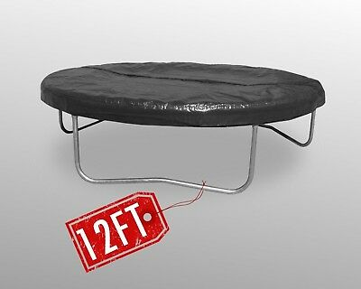 BodyRip 12FT Trampoline Black Rain Cover Weatherproof