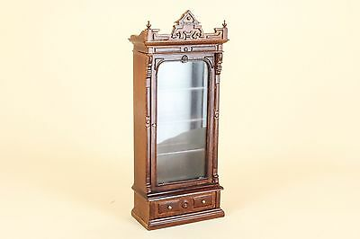 """Dollhouse Miniature BESPAQ DIRECT  """"BANKERS"""" BOOKCASE 6022-NWN"""