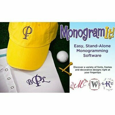Amazing Designs Monogram It! Embroidery Software New