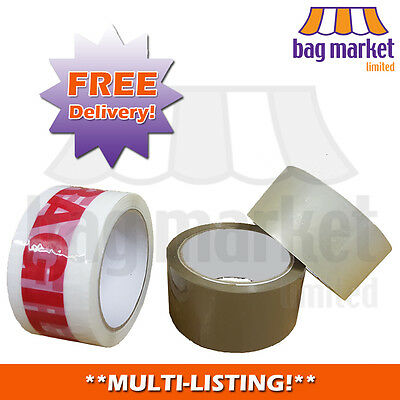Strong Packing/Parcel Tape 48mm x 66m! | Brown/Clear | High Quality! | Low Price