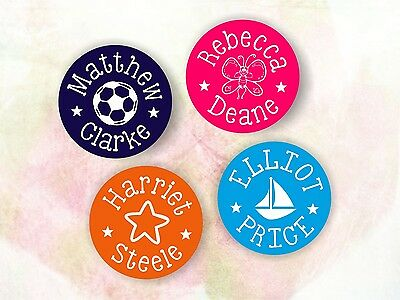 10 x Personalised Name Image Cute Kids Stickers Labels Stick On - School