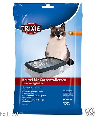 Extra Large Cat Litter Tray Toilet Liners Pack Of 10 Giant 56 X 71 Cm 4051