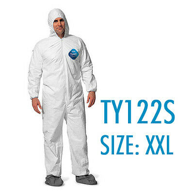 Dupont Tyvek Coverall Bunny Suite with Hood and boots - TY122S / 2XL