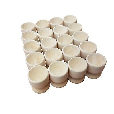 Set 20 pcs of Plain WOODEN EGG CUPS , 100% of Natural Wood