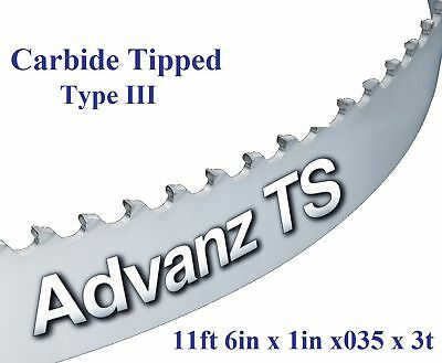"""11' 6"""" (138"""") x 1"""" x 3T CARBIDE TIPPED BANDSAW BLADE!"""