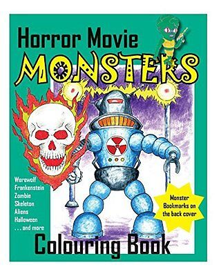 Horror Movie Monsters Colouring Book
