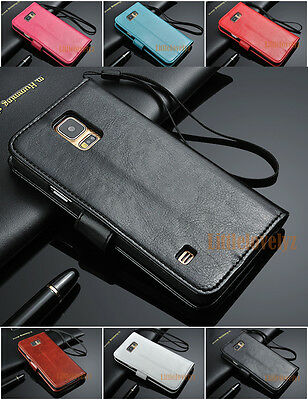 Premium ID Wallet Leather Case Cover For Samsung Galaxy S6 S6 Edge