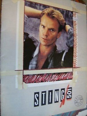 Sting 1985 Tour Program Book