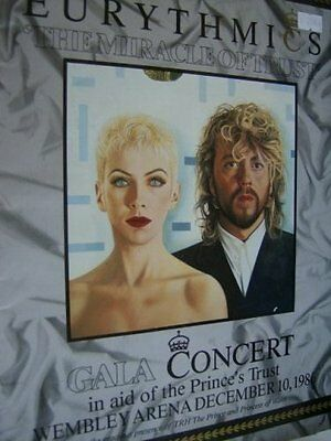 RARE Eurythmics Miracle Of Trust Gala Concert Program Book Dec 10, 1986