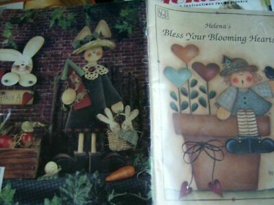 Helena's Bless Your Blooming Hearts Painting Book-Cook- Bunnies, Bears, Bees&