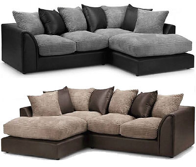 Byron Corner Group Sofa Right and Left ,Brown & beige black& grey