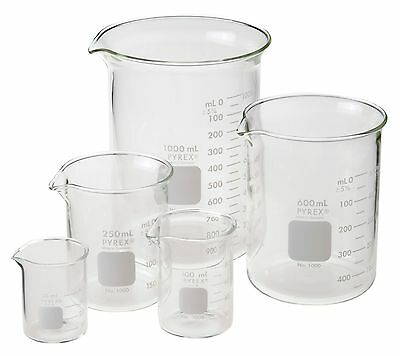 Pyrex Beaker, Low Form, Griffin, Starter Pack, 5 per case, #FL1010