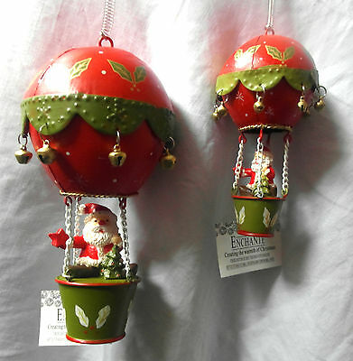 MERRY SANTA Hot Air Balloon - Hanging Christmas Decoration