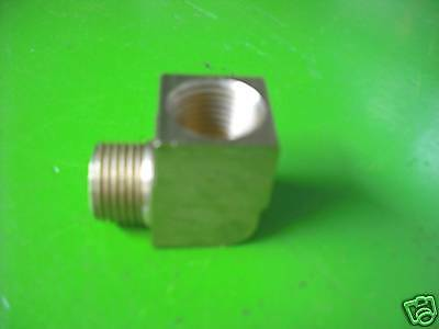 "Brass Pipe Fitting Elbow 1/2"" MPT x 1/2"" FMPT"