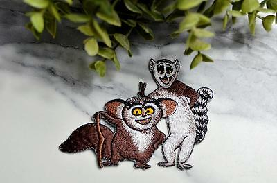 KING JULIEN Maurice MADAGASCAR Patch Iron On Embroidered Retro Patches Badge