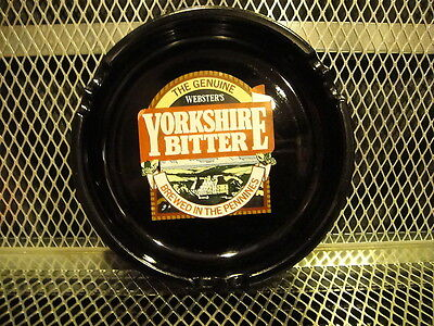 WEBSTER'S YORKSHIRE BITTER BEER ~ Vintage ~ Large Glass Cigar Cigarette Ash Tray