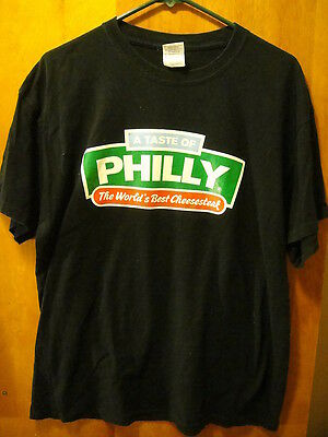 A TASTE of PHILLY ~ WORLD's BEST CHEESESTEAK  ~ T Shirt Large Black
