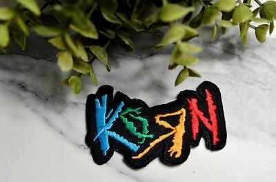 KORN Thrash Music Heavy Metal  Patch Iron On Fabric Backpack Retro Patches Badge