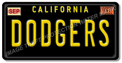 Los Angeles California DODGERS Baseball Team License Plate Tag Gift Dad New