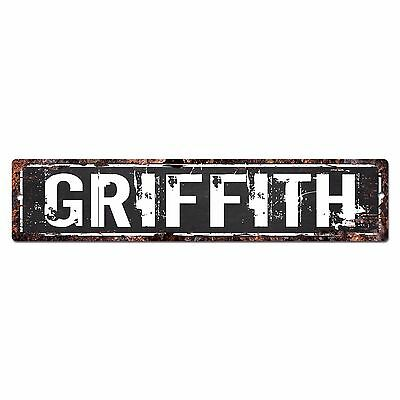 SLND0369 GRIFFITH CAVE Street Chic Sign Home man cave Decor Gift
