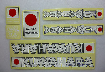 Nos OS BMX Decal Sticker KUWAHARA handle bar seat post