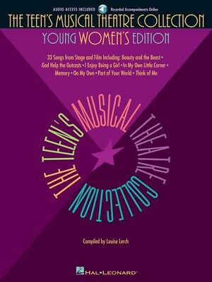 New Teen's Musical Theatre Collection Music Book for Young Women - Book & CD
