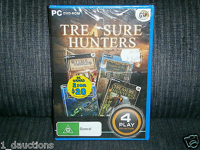 New Sealed Pc Cd-Rom Treasure Hunters 4 Game Collection