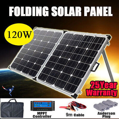 12V 120W Folding Solar Panel Kit Power Battery Caravan Boat Camping / Outdoor AU