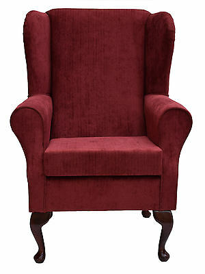 Wingback Fireside Chair in a Topaz Burgundy Fabric - Brand New