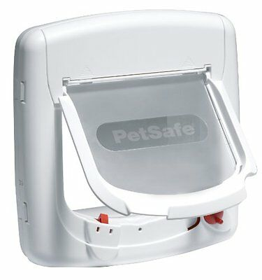 Petsafe Staywell Deluxe Magnetic Cat Flap White Pet Supplies Only Pets Wearing • EUR 41,42