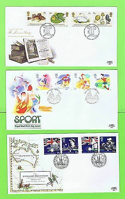 GB 1988 Collection of four Royal Mail First Day Covers with Special Cancels