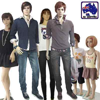Full Body Mannequin Display w/ Wig 175cm Female 184cm Male 110cm Kid WDIS026
