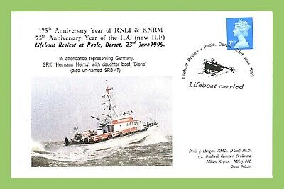 GB 1999 Poole Lifeboat Review German SRK Hermann Helms Commemorative Cover