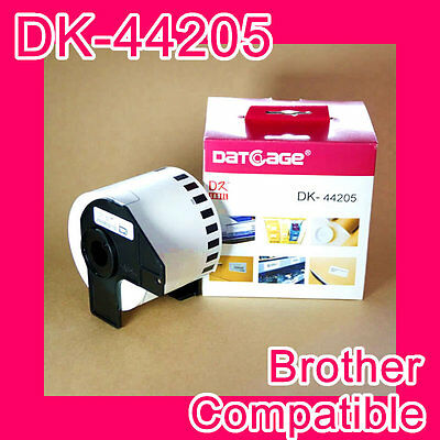 8 rolls of Compatible Brother DK-44205 White Continious Removable Paper Tape