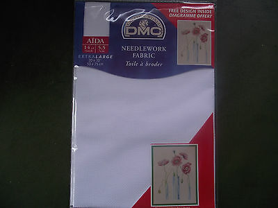 "DMC 14 count Extra Large White Aida 20"" x 30"""