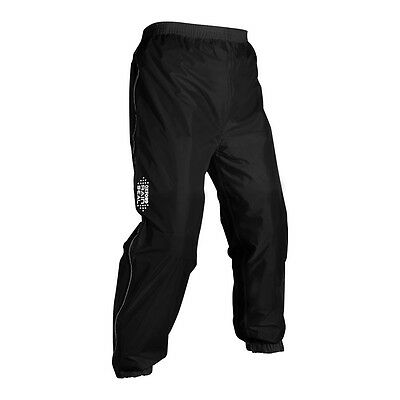 Oxford Rain Seal Black Moto Motorcycle All Weather Over Trousers | All Sizes