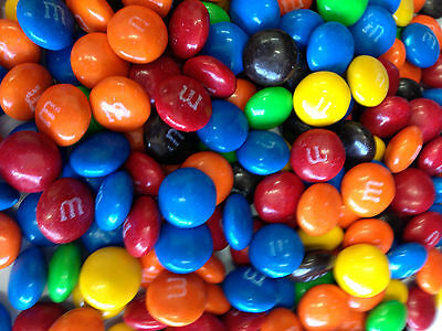 M&M'S MILK CHOCOLATE 1KG CHOC LOLLIES Candy Buffet orange red blue green yellow
