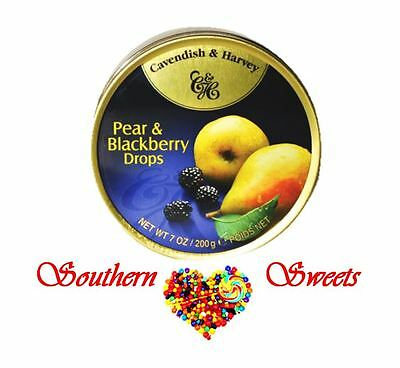 Cavendish and Harvey Pear & Blackberry Drops 10x200g C&H candy lollies