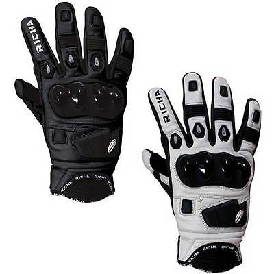 Richa Rock Short Sports Leather Moto Motobike Motorcycle Gloves | All Sizes